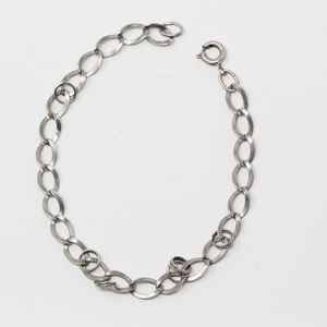 Jewelry - VINTAGE Sterling Curb CHARM Chain Bracelet 7.5""